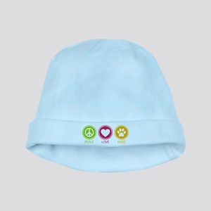 Peace - Love - Dogs 1 baby hat