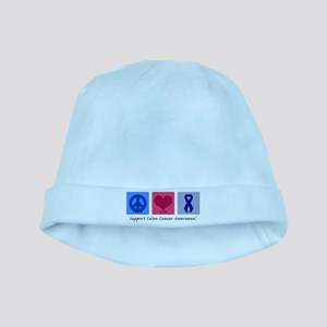 Peace Love Colon Cancer baby hat