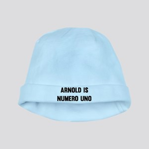 Arnold Is Numero Uno baby hat