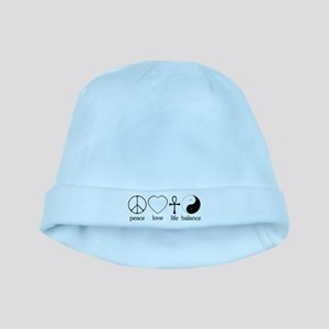 Peace Love Life Balance Infant Cap