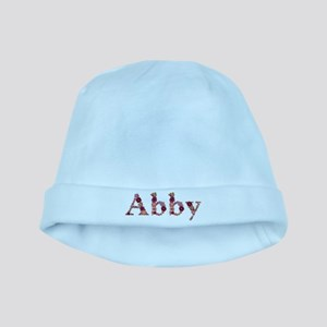Abby Pink Flowers baby hat