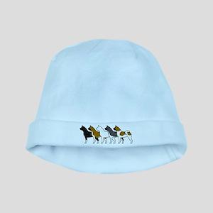 Group O' Akitas baby hat