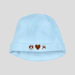 Peace Love Alabama baby hat