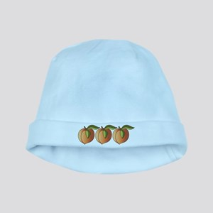 Row Of Peaches baby hat