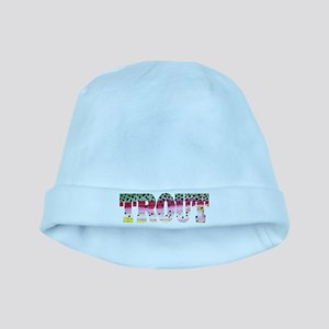 Rainbow TROUT baby hat