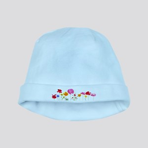 wild meadow flowers baby hat