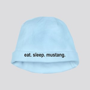 eat sleep mustang copy baby hat
