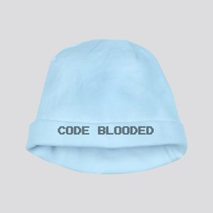 Code Blooded baby hat