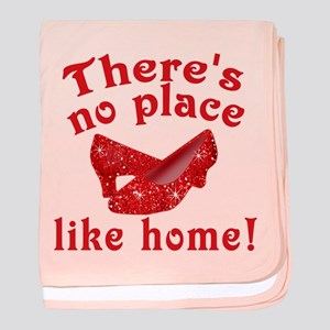 No Place Like Home Ruby Slippers baby blanket