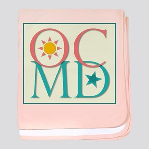 Ocean City, Maryland--Sun and Stars baby blanket