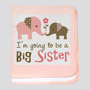 Big Sister to be - Mod Elephant baby blanket