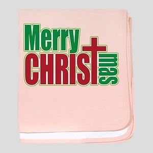 40ea610fd Merry Christmas Baby Blankets - CafePress