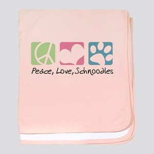 Peace, Love, Schnoodles baby blanket