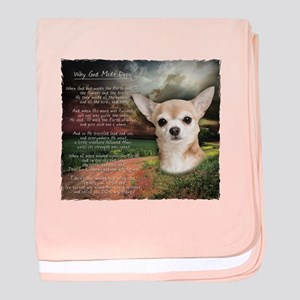 """Why God Made Dogs"" Chihuahua baby blanket"