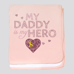 My Daddy is my Hero - baby blanket