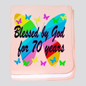 70TH BLESSING baby blanket