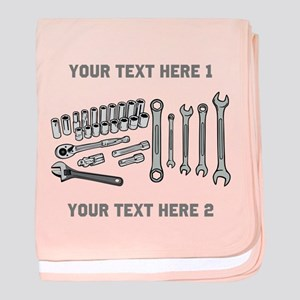 Wrenches with Text. baby blanket