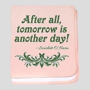 Scarlett O'Hara Quote Tomorrow baby blanket
