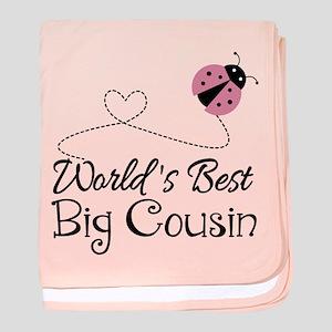 World's Best Big Cousin baby blanket
