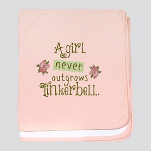 a girl never outgrows Tinkerbell baby blanket
