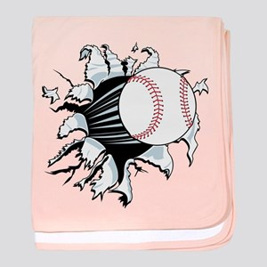 Breakthrough Baseball baby blanket
