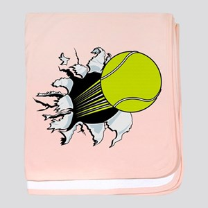 Breakthrough Tennis Ball baby blanket