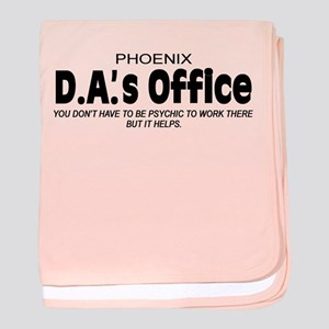'D.A.'s Office' baby blanket