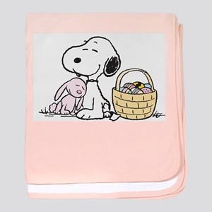 Beagle and Bunny baby blanket