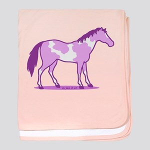 Purple Horse baby blanket