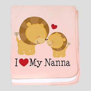 I Love Nanna baby blanket
