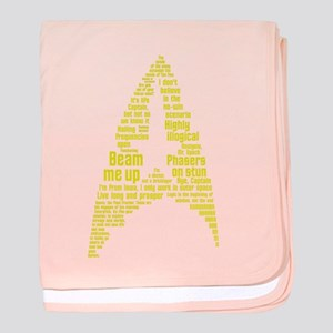 Star Trek Quotes (Insignia) baby blanket