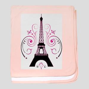Eiffel Tower Gradient Swirl baby blanket