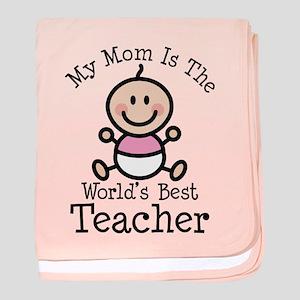 Best Teacher Mom baby blanket