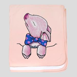 Pocket Pig baby blanket