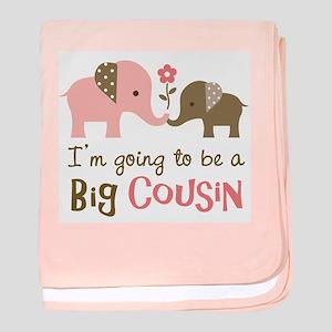 Big Cousin - Elephant baby blanket