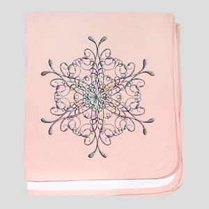 Iridescent Snowflake baby blanket