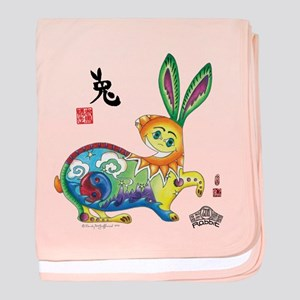 Moongate Year of the Rabbit baby blanket