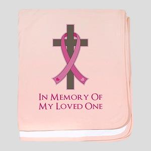 In Memory Cross baby blanket