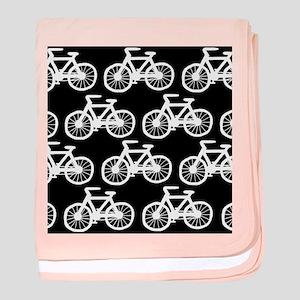 'Bicycles' baby blanket