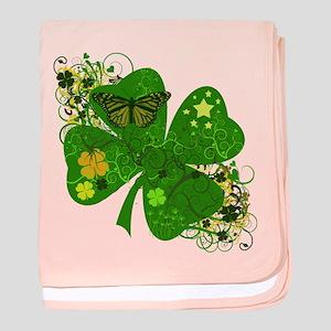 Fancy Irish 4 leaf Clover baby blanket