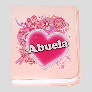 Abuela Heart Art baby blanket
