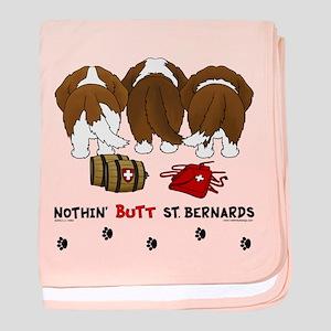 Nothin' Butt St Bernards baby blanket