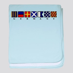 Nautical Germany baby blanket