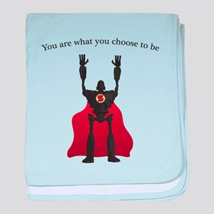 The Iron Giant: Choose To Be baby blanket
