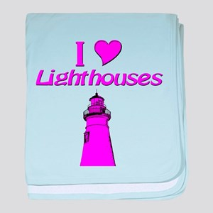 Lighthouses baby blanket