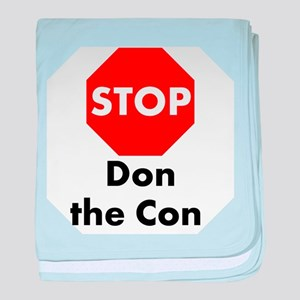 Stop Don the Con baby blanket