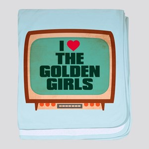 Retro I Heart The Golden Girls Infant Blanket