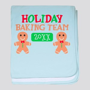 Holiday Baking Team Customizable baby blanket