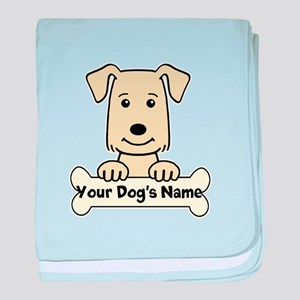 Personalized Golden Retriever baby blanket