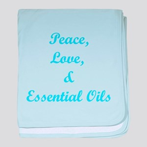 Peace, Love, and Oils baby blanket
